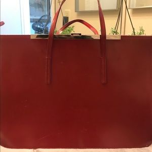 Furla large red tote